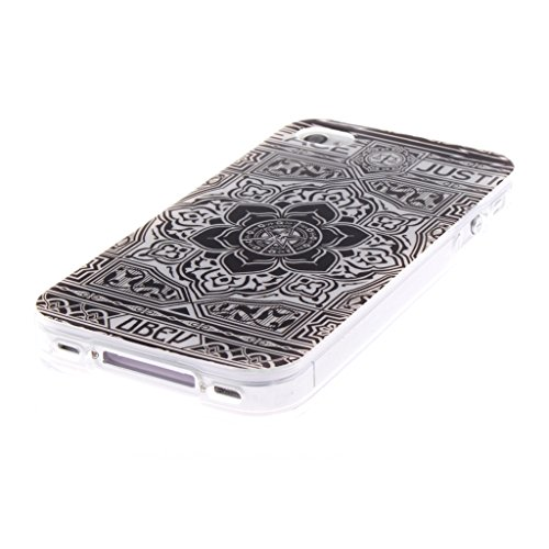 MYTHOLLOGY iphone 4s Coque, Doux Flexible Case Silicone TPU Protection Cover Housse iphone 4 / iphone 4s Drapeau HSDY