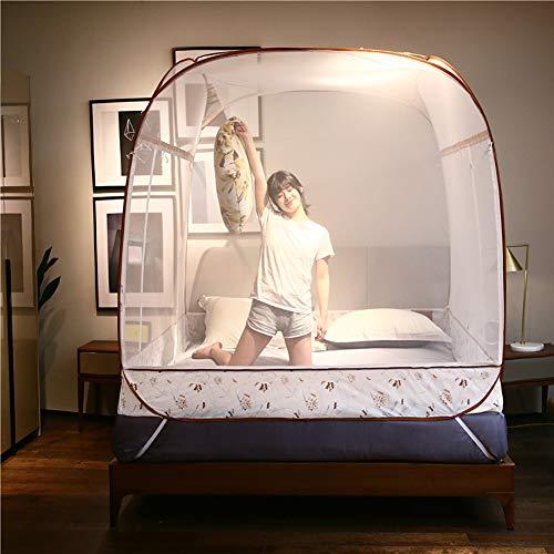 tonetz für Zuhause und Reisen, Camping, Zelt, mit Überdachung, groß für Kingsize-Bett, Netz ohne Boden 200 * 180 * 165cm ()