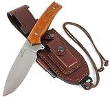 JEO-TEC Nº21 Premium Qualität - Professionell Überlebensmesser, Gürtelmesser, Outdoormesser, Deutsche Stahl BOHLER N690C (Single Edge),...