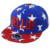 THENICE Kind Hip-Hop Cap Baseball Kappe Hut (Star marineblau )