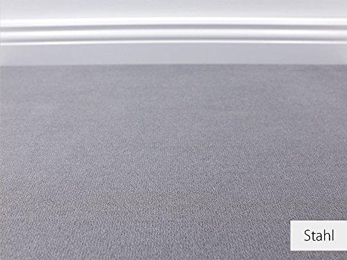 Die Vorwerk Bijou Kollektion - Bijou Uni Teppichboden in 16 Farben Mustermaterial - Inkl. 2% HEVO® Bestellgutschein - Stahl