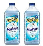 Minidou Adoucissant Liquide Concentré Bouffée d'Air Frais - 1,875 L/75 Lavages - Lot de 2