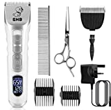 GHB Dog Clippers Pet Grooming Clippers Cordless...
