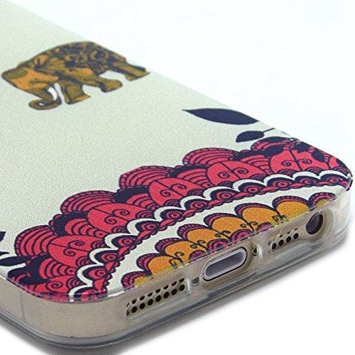 Ancerson tasca posteriore per cellulare, in TPU morbido per Apple iPhone 5/5S/5G colorati in pittura ad olio Stil Colorful Painting Back Case Cover Custodia protettiva Custodia 11 16