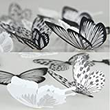 36 Pieces 3D Butterfly Stickers Vivid Design DIY House Wall Decoration Windows Decor Baby Nursery Art Decals Wall Stickers By Lisdripe (101)