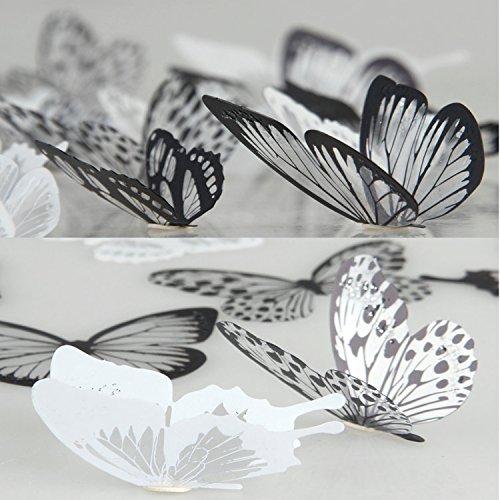 36 pegatinas 3D de mariposa, diseño vistoso, decoración de hogar y pared para hacer usted mismo, decoración de ventanas para guardería, adhesivos artísticos para pared, pegatinas por Lisdripe, multicolor