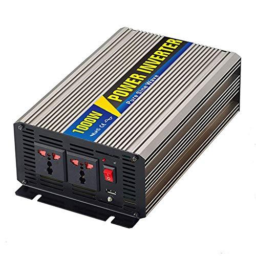 WANGTAO 1000W 12V Power Inverter Dual 110/220V AC Power Socket Car Backup Power Supply with USB Port 5V 1A Solar Photovoltaic Module,12V/110V 5v Ac 1a Usb