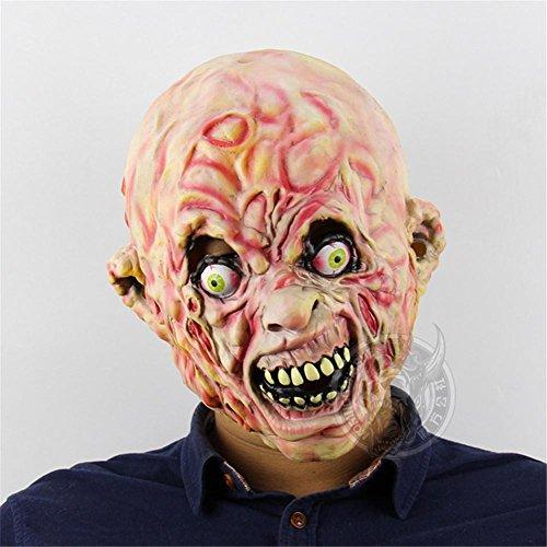 SQCOOL Koriander Zombie Latex Maske Halloween Bar Goblin Haus Escape Dress Up Requisiten
