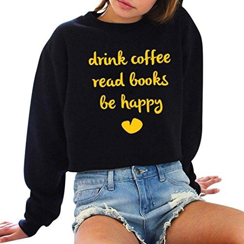 Damen Sweatshirt Runder Kragen Hemd Langarm KapuzenpulloverPullover Herbst Winter Outerwear Von Xinan (XXL, Gelb)