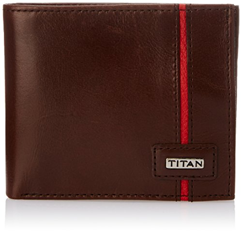 Titan Semi Formal Dark Brown Men's Wallet (TW148LM2DB)  available at amazon for Rs.1100