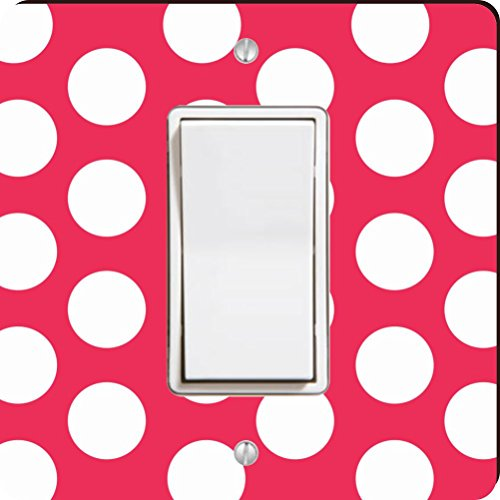 Rikki Knight Hot, Pink Polka Dots Single Rocker Light Switch Plate  available at amazon for Rs.2437