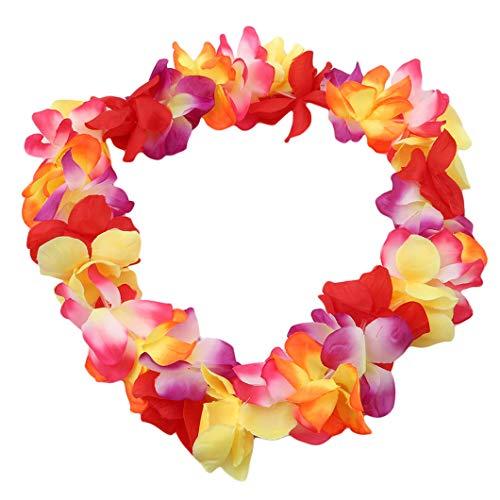 DeliV Hawaiian Kranz Hawaiian Brustring für Thema Party Favors Kränze Stirnbänder Urlaub Hochzeit Strand Geburtstag, Farbe