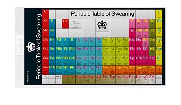 Periodic table of swearing magnets amazon kitchen home urtaz Image collections