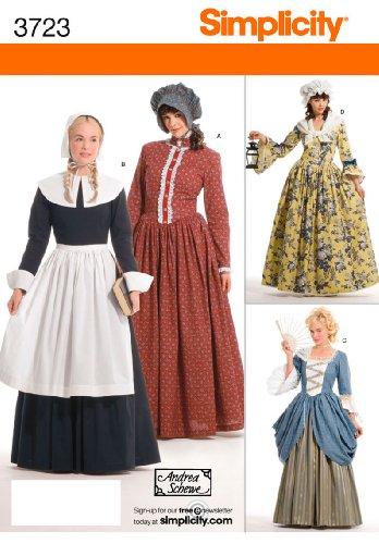 Simplicity Schnittmuster 3723HH Schnittmuster (Kostüme Pilgrim Womens)