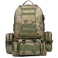 Sport all'aperto L 50 zaino zaino Campeggio escursionismo a piedi camouflage borsa a tracolla per pack -