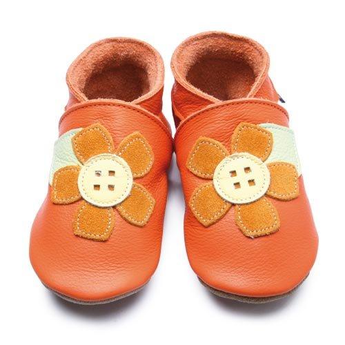Inch Blue - 1685 L - Chaussures Bébé Souples - Corsage - Orange - T 20-22 cm