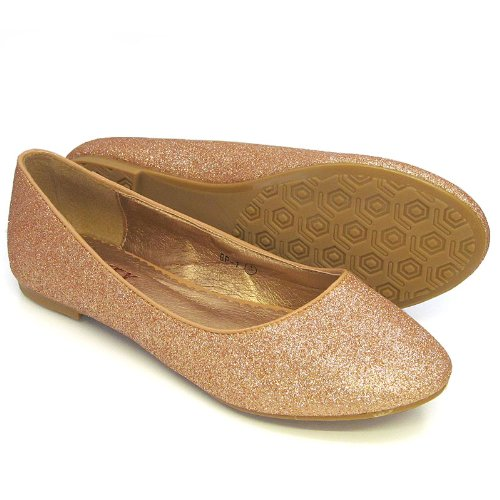 Essex Glam ,  Ballerine donna Gold Glitter