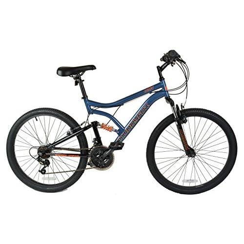 51Td4GpEaeL. SS500  - Muddyfox Men's Heist Dual Suspension 18 Speed Mountain Bike, Grey/Black, 26 Inch