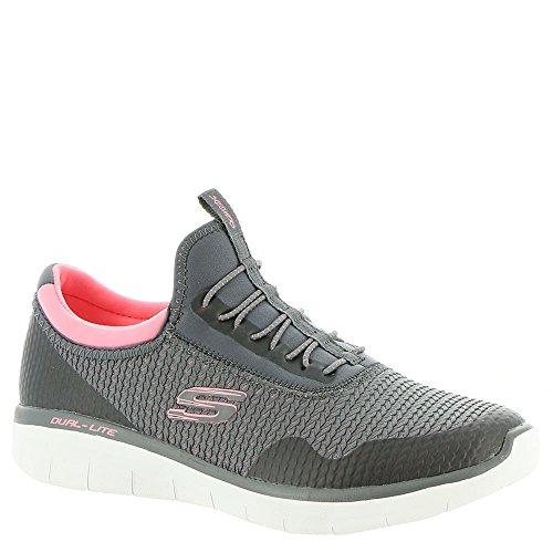 Skechers 12386, Damen Slip On, Grau - Charcoal/Coral - Größe: 37.5 EU (Coral Mirror)