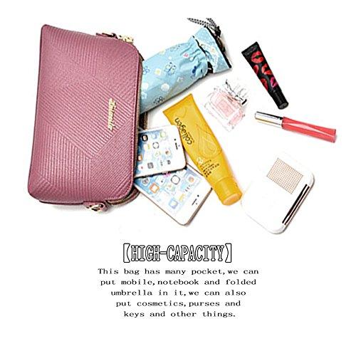 (G-AVERIL) Singolo sacchetto di spalla per le donne Crossbody Borsetta PU Impermeabile tracolla lunga / Body Bag Croce Moda con la Catena per Partito / Shopping / beige