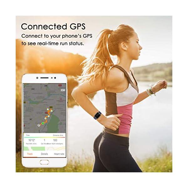 LATEC Pulsera Actividad Reloj Inteligente Impermeable IP68 Smartwatch Pantalla Táctil Completa con Pulsómetro Cronómetro Pulsera Deporte para Hombres Mujeres Niños con iOS y Android 6