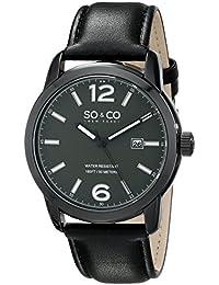 SO & CO New York 5011L.3 - Reloj de cuarzo para hombres, negro