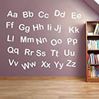 Alphabet Letters Kids Nursery Play Room Wall Decorations Window Stickers Wall Decor Wall Stickers Wall Art Wall Decals Stickers Wall Decal Decals Mural Décor Diy Deco Removable Wall Decals Colorful Stickers