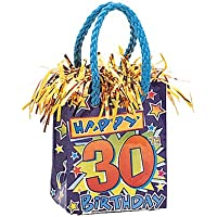 Happy 30th Birthday Balloon Weight (mini gift bag style)