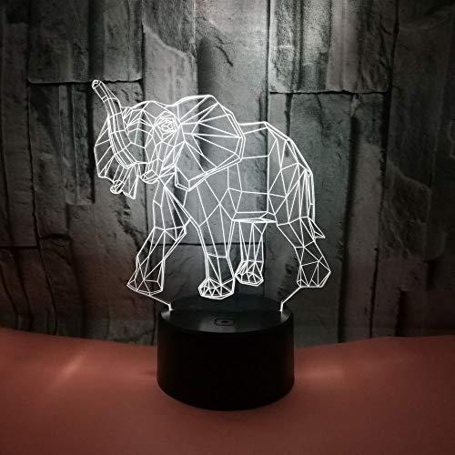 Bunte kleine Nachtlampe des Elefanten 3d Bunte Noten-Fernbeleuchtungs-Leuchten 3d Weihnachtsgeschenk für Babyraumlichter,...