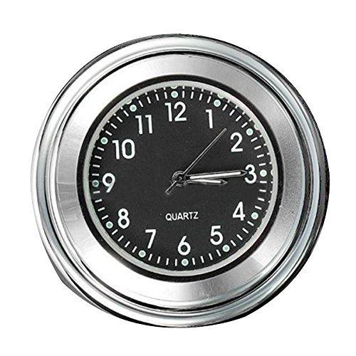 """Motorrad Lenkerhalter - SODIAL (R) 7/ 8"""" 1"""" Universal Motorrad Fahrrad Lenkerhalter Zifferblatt Uhr Wasserdicht"""