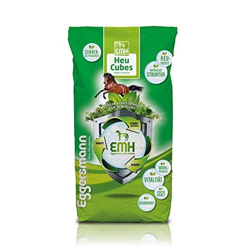 Trockene Ergänzen (Heuersatz aus reinem, sonnengetrockneten Heu, Eggersmann EMH Heu Cubes, 1er Pack (1 x 25 kg))
