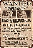 BDTS 1932 Charles Lindbergh bebé Wanted Póster, diseñ Metal Tin Sign 8X12 inches