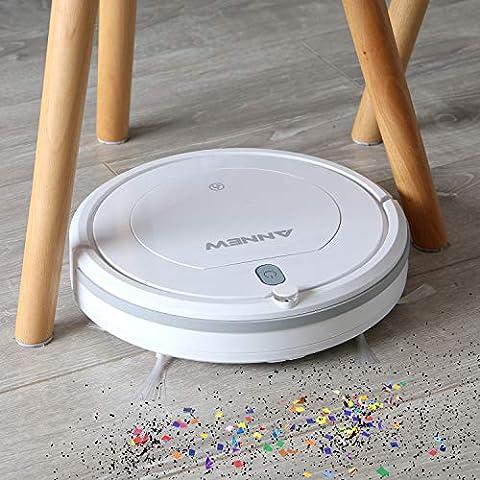 ANNEW-Robot-Aspirador-con-Control-Remoto-3-Modos-de-Limpieza-Anti-cadas-Filtro-HEPA-Adecuado-para-el-Pelo-de-Mascotas-Alfombras-Pisos-Duros