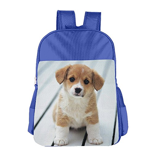 Children Cute Puppy Dog Pattern School Bags Bookbag Boys/Girls For 4-15 Years Old RoyalBlue