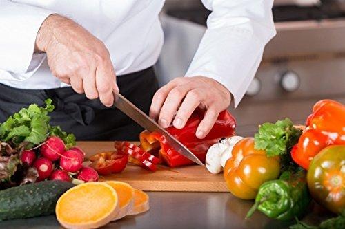 Aicok   cuchillos cocina  Cuchillo de cocina para chef de 8 pulgadas con cuchilla afilada de acero inoxidable y mango ergonómico