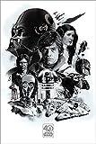 Star Wars 40th Anniversary Poster Montage (61cm x 91,5cm)