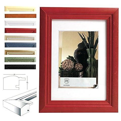 WOLTU #52 Bilderahmen Fotogalerie, Holz Rahmen, Glasscheibe, Artos Stil (Rot,