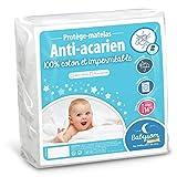 Babysom - Protège Matelas/Alèse Bébé - Anti acarien - 70x140 cm - Imperméable - Bouclette 100% Coton - Souple et Silencieux - Respirant