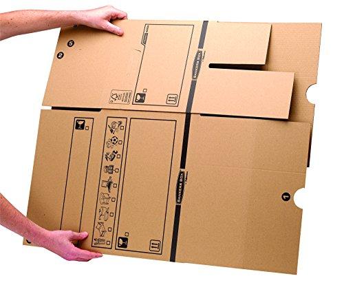 Bankers Box Umzugsbox SmoothMove klein (aus 100% recyceltem Karton, 10er Packung) braun - 3