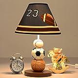 DWW-Tischlampe Kindertischlampe Harz E27 kreative Fußball Cartoon Schlafzimmer Nachttischlampe ( Farbe : Buttons )