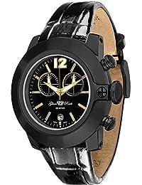Glam Rock Sobe Unisex-Armbanduhr 44mm Armband Leder Gehäuse Vergoldetes Edelstahl Schweizer Quarz GR32176S