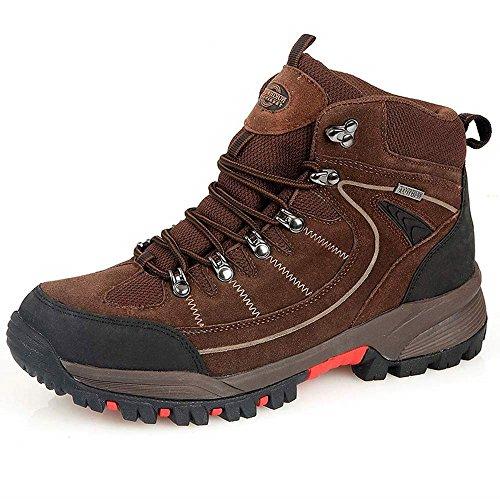 Northwest Territory Mens Rae - Stivale in pelle, impermeabile, per passeggiate, escursioni, trekking Brown / Red