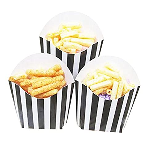 12 PCS Birthday Party Supplies Popcorn Cups Boîtes alimentaires pour frites / sucre - A9