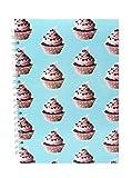 Notizbuch in A4-Hochformat von Pink Pig | 70Blätter mit Linien | Trendy cupcake