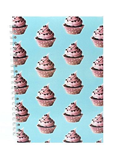 Pink Pig A4Hochformat Notizbuch | liniert Papier, 70Blätter | trendige cupcake