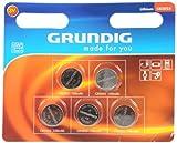 Grundig CR2025 Knopfzellen-Batterie (5-er Pack)