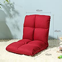 wysm Sofá perezoso de lino grueso solo 40 * 90 * 13 cm dormitorio plegable silla de la espalda de la computadora del dormitorio de la cama ( Color : Rojo )