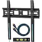 """Cheetah APFMSB support TV mural pour téléviseurs de 20 à 65"""" jusqu'à VESA 400 et 52kg, câble HDMI Twisted Veins 3m et niveau à bulle 3-axes magnétiques 15cm inclus"""