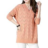 ALUK- Versión coreana de primavera y otoño del suéter de respaldo salvaje de párrafo corto ( Color : Naranja , Tamaño : XXL )