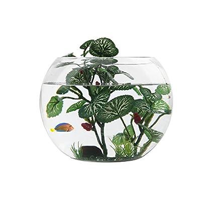 Vivifying Aquarium Artificial Plant, 6.2inch Tall Plastic Plants for Fish Tanks (Green) 4